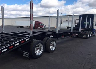 2018 Battle Wagon Trailers 18in Drop Frame with Dovetail Log Trailer