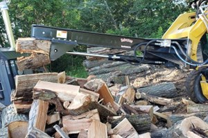 Halverson Wood Products Inverted  Firewood Splitter